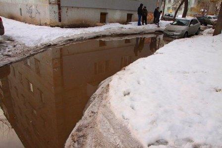 В Самаре во дворе образовалось озеро