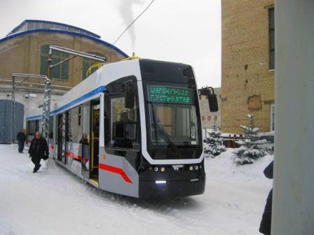Новый трёхсекционный трамвай тестируют в Самаре